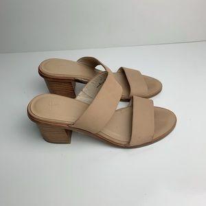 Joie Banner  Block Heel Sandal Tan Size 8